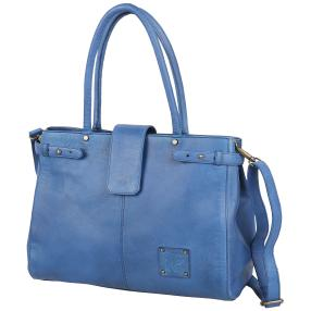NATURGEWALT Ledertasche light blue