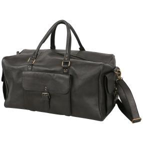 NATURGEWALT Leder Reisetasche schwarz