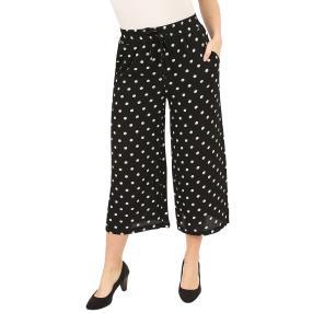 Damen-Culotte-Hose schwarz/weiß gepunktet