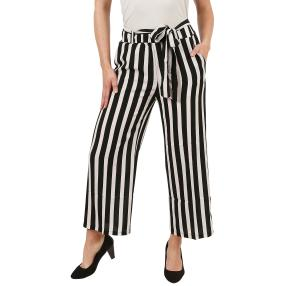 Damen-Culotte-Hose schwarz/weiß gestreift
