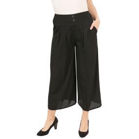 Damen-Culotte-Hose schwarz