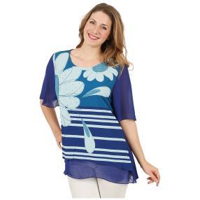 Damen-Print-Shirt mit Strass multicolor
