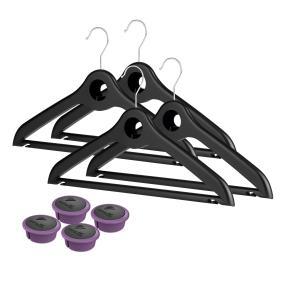 CAPS Air Bügel 4er Set schwarz, mit 4 Kapseln