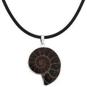 Anhänger Ammonit mit Kautschukband