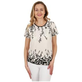 Damen-Shirt 'LaBelle' schwarz/weiß