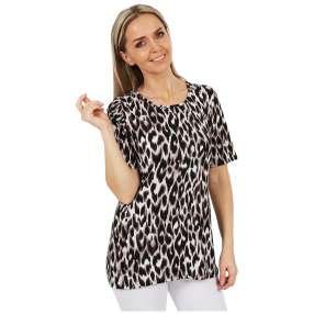MILANO Design Shirt 'Aurelia' weiß/schwarz/taupe