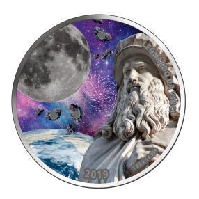 Mond-Meteoriten Münze da Vinci