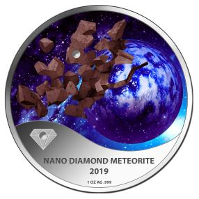 Micro Diamant Meteoriten-Münze