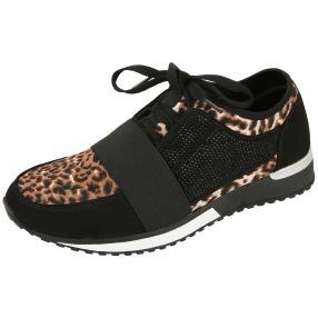Claudia Ghizzani Sneaker braun Leopard