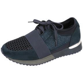 Claudia Ghizzani Damen Sneaker navy Glitzer