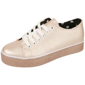 Claudia Ghizzani Damen Sneaker rosegold Glitzer