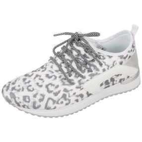 Claudia Ghizzani Damen Sneaker weiß leopard