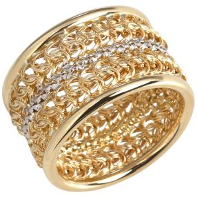 Ring 375 Gelbgold rhodiniert