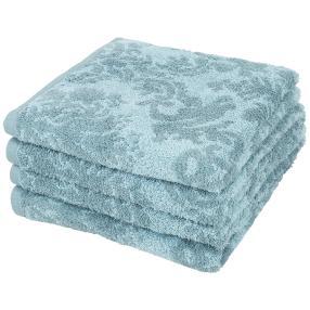 Premium Handtuch 4er-Set blau