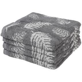Premium Handtuch 4er Set, grau