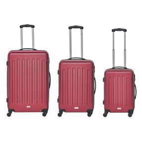 """Packenger Trolleyset """"Travelstar"""", 3tlg., weinrot"""