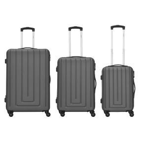Packenger Razor 3er Set grau Hartschale