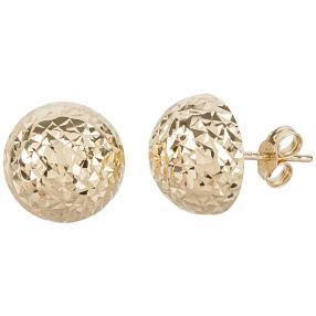 Ohrringe mit Diamantschnitt 585 Gelbgold