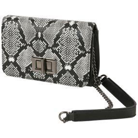 CHARM Fashionbag schwarz weiß python