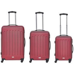 """Packenger Trolleyset """"Travelstar"""", 3-teilig, rot"""