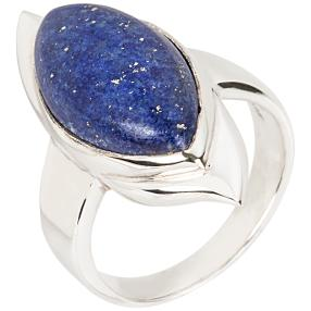 Ring 925 Sterling Silber Lapislazuli