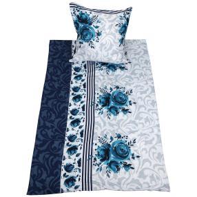 AllSeasons Bettwäsche 2-teilig blau-grau