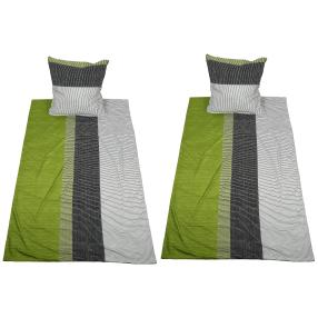 AllSeasons Bettwäsche 4tlg. grün