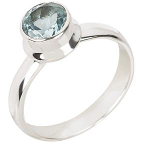 Ring Sterling Silber Swiss Blue Topas beh.