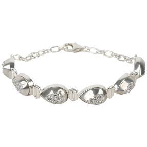 Armband 925 Sterling Silber Druse