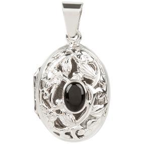 Medaillon 925 Sterlingsilber Onyx