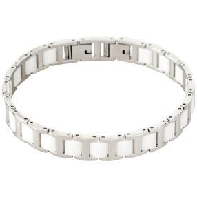 Alexander Milton Armband, silber/weiß