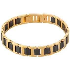 Alexander Milton Armband, gold/schwarz
