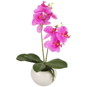 Orchidee lila, 35cm, in der Keramikschale
