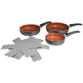 BRATmaxx Keramik-Hochrandpfannenset, 5-teilig