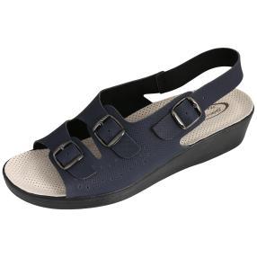 Saniflex Damen Sandale navy gepolstert