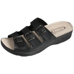Saniflex Damen Pantolette schwarz gepolstert