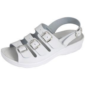 Saniflex Damen Sandale weiß gepolstert