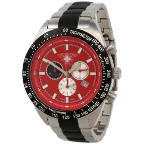"""Swiss Combat Forces Herrenuhr """"Aircraft"""" rot"""