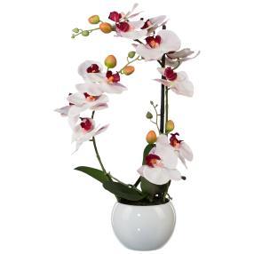 Orchidee im Keramiktopf, rosa, 3D, 42cm