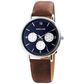 Excellanc Herrenuhr, Chrono-Optik, blau