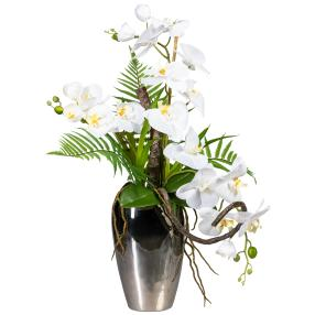 Orchideen-Arrangement, weiß, 70cm