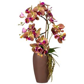Orchideen-Arrangement, violett, 70 cm