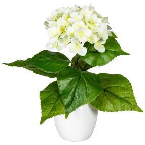 Hortensie, weiß, 40 cm, realtouch