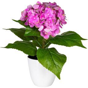 Hortensie, pink, 40 cm, realtouch
