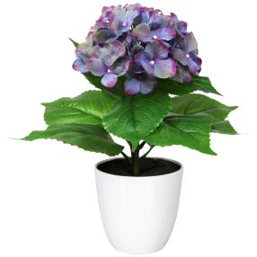 Hortensie, lila, 40 cm, realtouch