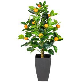 Orangenbäumchen im Dekotopf, 70 cm
