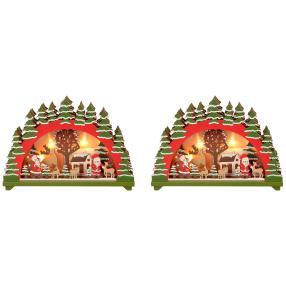 Holz-Tischdeko, 2er-Set, 20cm