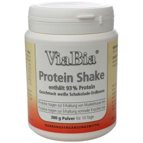 ViaBia 93%Protein Shake weiße Schoko-Erdbeere 300g