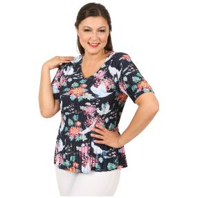 Jeannie Plissee-Shirt 'Loretta' multicolor (36-48)