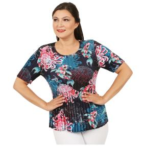 Jeannie Plissee-Shirt 'Monica' multicolor (36-48)